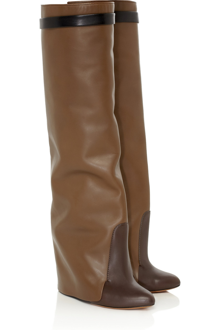 givenchy leather knee wedge boots kelledstyle