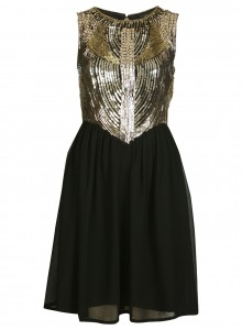 gold Embellish Dress Miss Selfridge