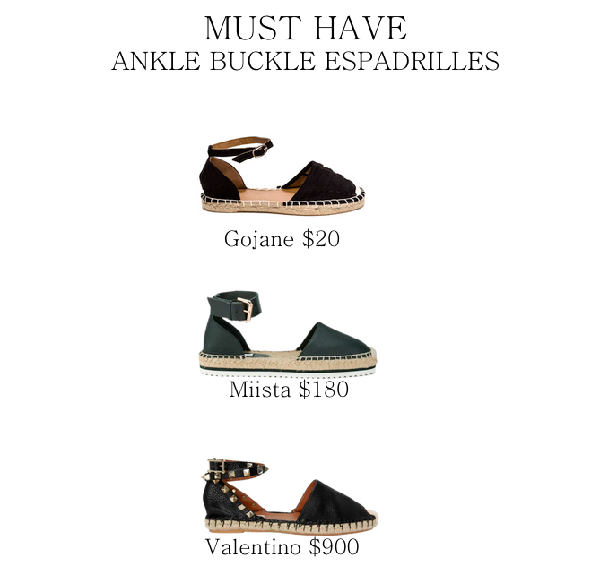 ankle buckle espadrilles