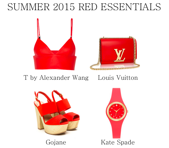 summer 2015 red essentials
