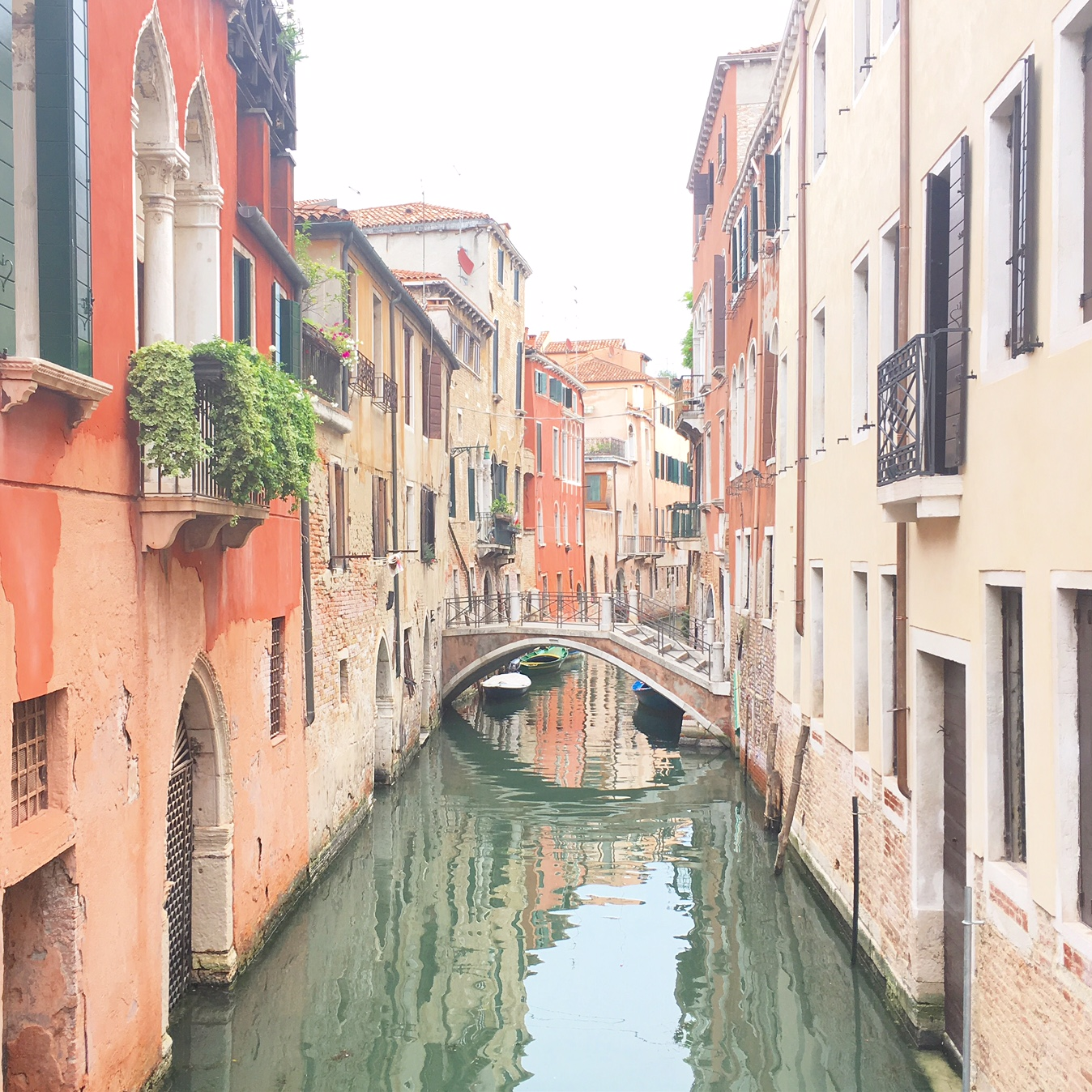 bridge, canal and water in Venice