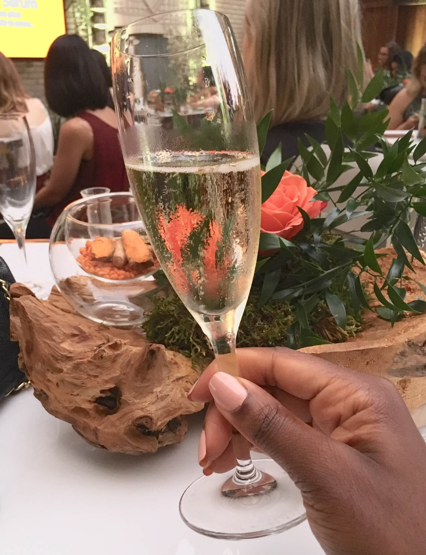 flute of champagne